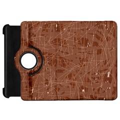 Brown Pattern Kindle Fire Hd Flip 360 Case by Valentinaart