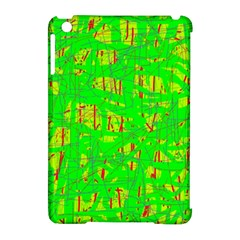 Neon Green Pattern Apple Ipad Mini Hardshell Case (compatible With Smart Cover) by Valentinaart