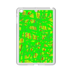Neon Green Pattern Ipad Mini 2 Enamel Coated Cases by Valentinaart