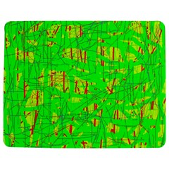 Neon green pattern Jigsaw Puzzle Photo Stand (Rectangular) by Valentinaart