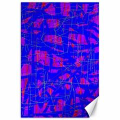 Blue pattern Canvas 20  x 30
