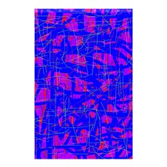Blue Pattern Shower Curtain 48  X 72  (small)  by Valentinaart