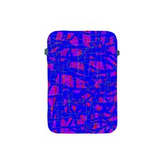 Blue Pattern Apple Ipad Mini Protective Soft Cases by Valentinaart