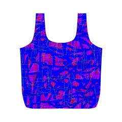 Blue Pattern Full Print Recycle Bags (m)  by Valentinaart