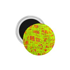 Yellow And Orange Pattern 1 75  Magnets by Valentinaart
