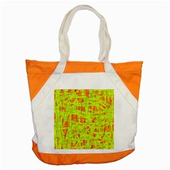 Yellow And Orange Pattern Accent Tote Bag by Valentinaart