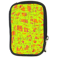 Yellow And Orange Pattern Compact Camera Cases by Valentinaart