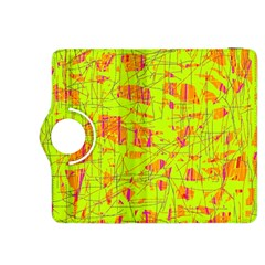 Yellow And Orange Pattern Kindle Fire Hdx 8 9  Flip 360 Case by Valentinaart