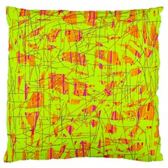 Yellow And Orange Pattern Standard Flano Cushion Case (two Sides) by Valentinaart