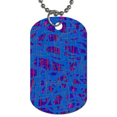 Deep Blue Pattern Dog Tag (two Sides) by Valentinaart