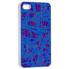 Deep Blue Pattern Apple Iphone 4/4s Seamless Case (white) by Valentinaart