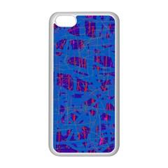 Deep Blue Pattern Apple Iphone 5c Seamless Case (white) by Valentinaart