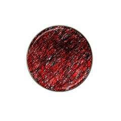 Red And Black Pattern Hat Clip Ball Marker (10 Pack) by Valentinaart