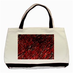 Red And Black Pattern Basic Tote Bag (two Sides) by Valentinaart