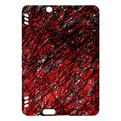 Red And Black Pattern Kindle Fire Hdx Hardshell Case by Valentinaart