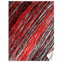 Red And Black Elegant Pattern Canvas 36  X 48   by Valentinaart