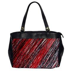 Red And Black Elegant Pattern Office Handbags by Valentinaart