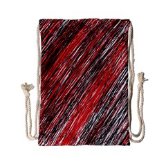 Red And Black Elegant Pattern Drawstring Bag (small) by Valentinaart