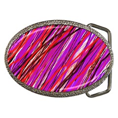 Purple pattern Belt Buckles by Valentinaart