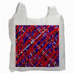 Red And Blue Pattern Recycle Bag (one Side) by Valentinaart