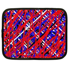Red And Blue Pattern Netbook Case (xxl)  by Valentinaart