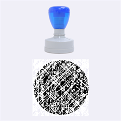 Red and blue pattern Rubber Round Stamps (Medium) by Valentinaart