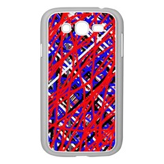 Red And Blue Pattern Samsung Galaxy Grand Duos I9082 Case (white) by Valentinaart