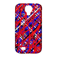 Red And Blue Pattern Samsung Galaxy S4 Classic Hardshell Case (pc+silicone) by Valentinaart