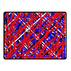 Red And Blue Pattern Double Sided Fleece Blanket (small)  by Valentinaart