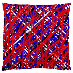 Red And Blue Pattern Large Flano Cushion Case (one Side) by Valentinaart