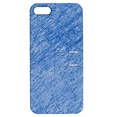 Blue Pattern Apple Iphone 5 Hardshell Case With Stand by Valentinaart