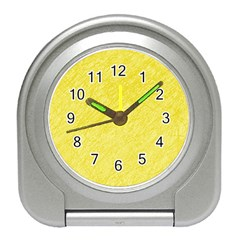 Yellow Pattern Travel Alarm Clocks by Valentinaart