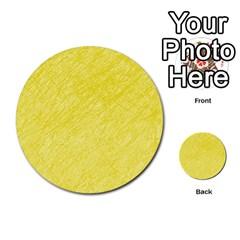 Yellow Pattern Multi Purpose Cards (round)  by Valentinaart
