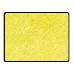 Yellow pattern Fleece Blanket (Small) by Valentinaart