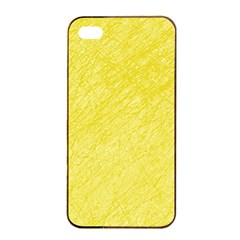 Yellow Pattern Apple Iphone 4/4s Seamless Case (black) by Valentinaart