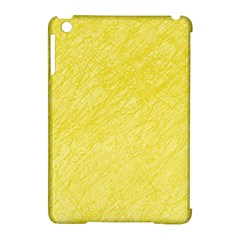 Yellow Pattern Apple Ipad Mini Hardshell Case (compatible With Smart Cover) by Valentinaart