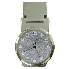Gray Pattern Money Clip Watches by Valentinaart