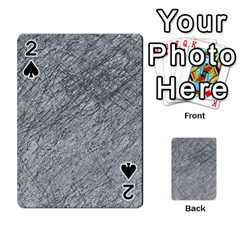 Gray pattern Playing Cards 54 Designs  by Valentinaart