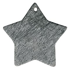 Gray Pattern Star Ornament (two Sides)  by Valentinaart