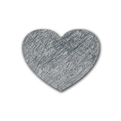 Gray Pattern Rubber Coaster (heart)  by Valentinaart