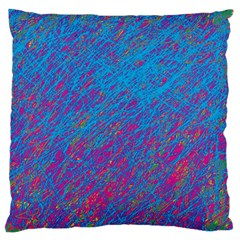 Blue Pattern Standard Flano Cushion Case (two Sides) by Valentinaart