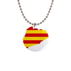 Flag Map Of Catalonia Button Necklaces by abbeyz71