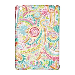 Hippie Flowers Pattern, Pink Blue Green, Zz0101 Apple Ipad Mini Hardshell Case (compatible With Smart Cover) by Zandiepants