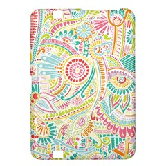 Hippie Flowers Pattern, Pink Blue Green, Zz0101 Kindle Fire Hd 8 9  Hardshell Case by Zandiepants