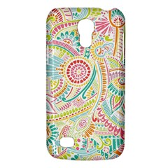 Hippie Flowers Pattern, Pink Blue Green, Zz0101 Samsung Galaxy S4 Mini (gt I9190) Hardshell Case  by Zandiepants
