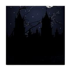 Dark Scene Illustration Tile Coasters by dflcprints