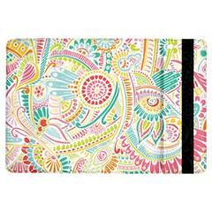 Hippie Flowers Pattern, Pink Blue Green, Zz0101 Apple Ipad Air Flip Case by Zandiepants