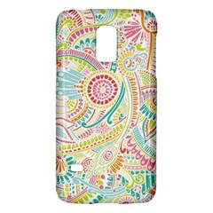Hippie Flowers Pattern, Pink Blue Green, Zz0101 Samsung Galaxy S5 Mini Hardshell Case  by Zandiepants