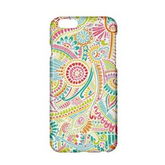 Hippie Flowers Pattern, Pink Blue Green, Zz0101 Apple Iphone 6/6s Hardshell Case by Zandiepants