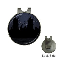 Dark Scene Illustration Hat Clips With Golf Markers by dflcprints